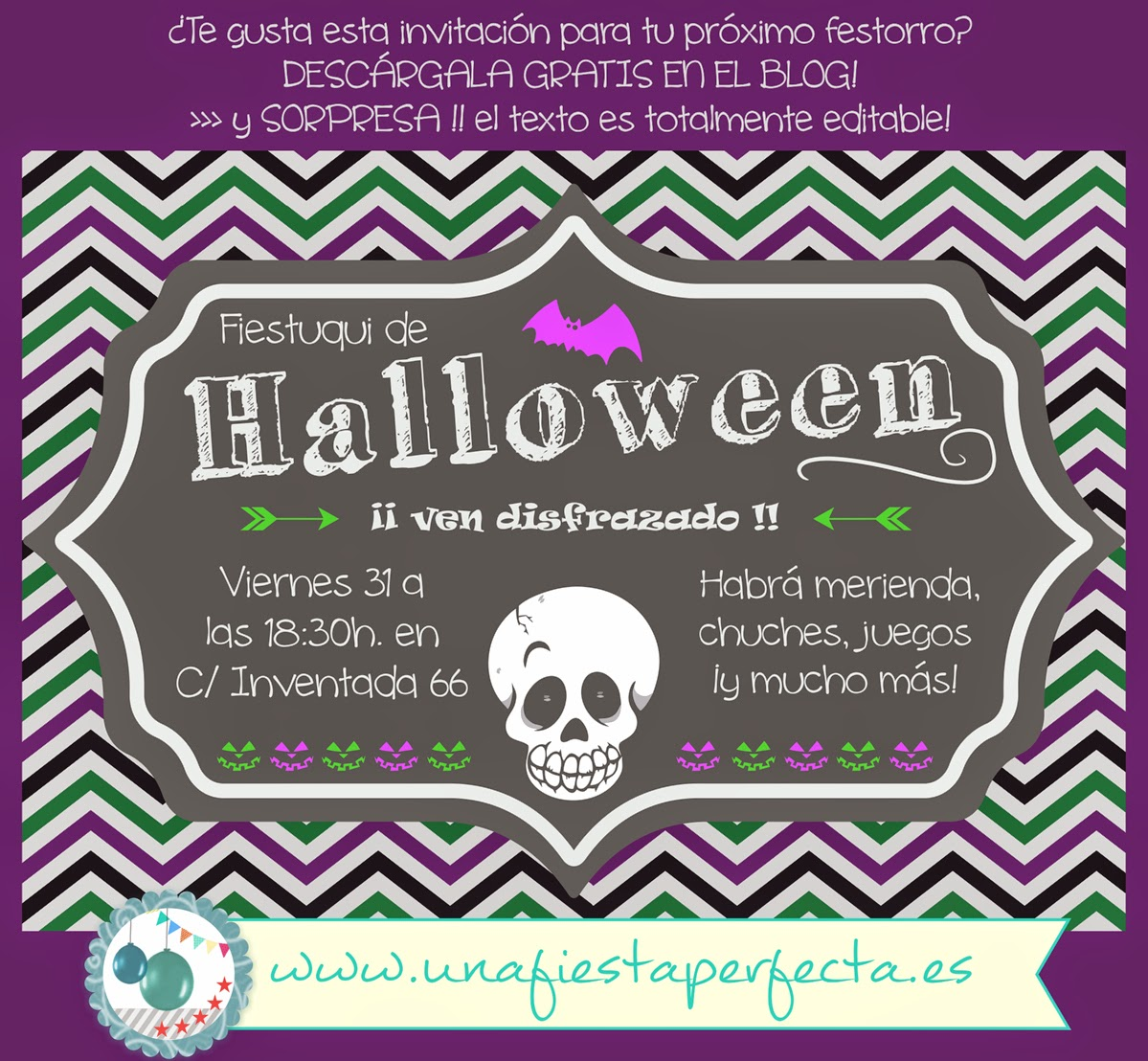 Descargable Halloween - unafiestaperfecta.es