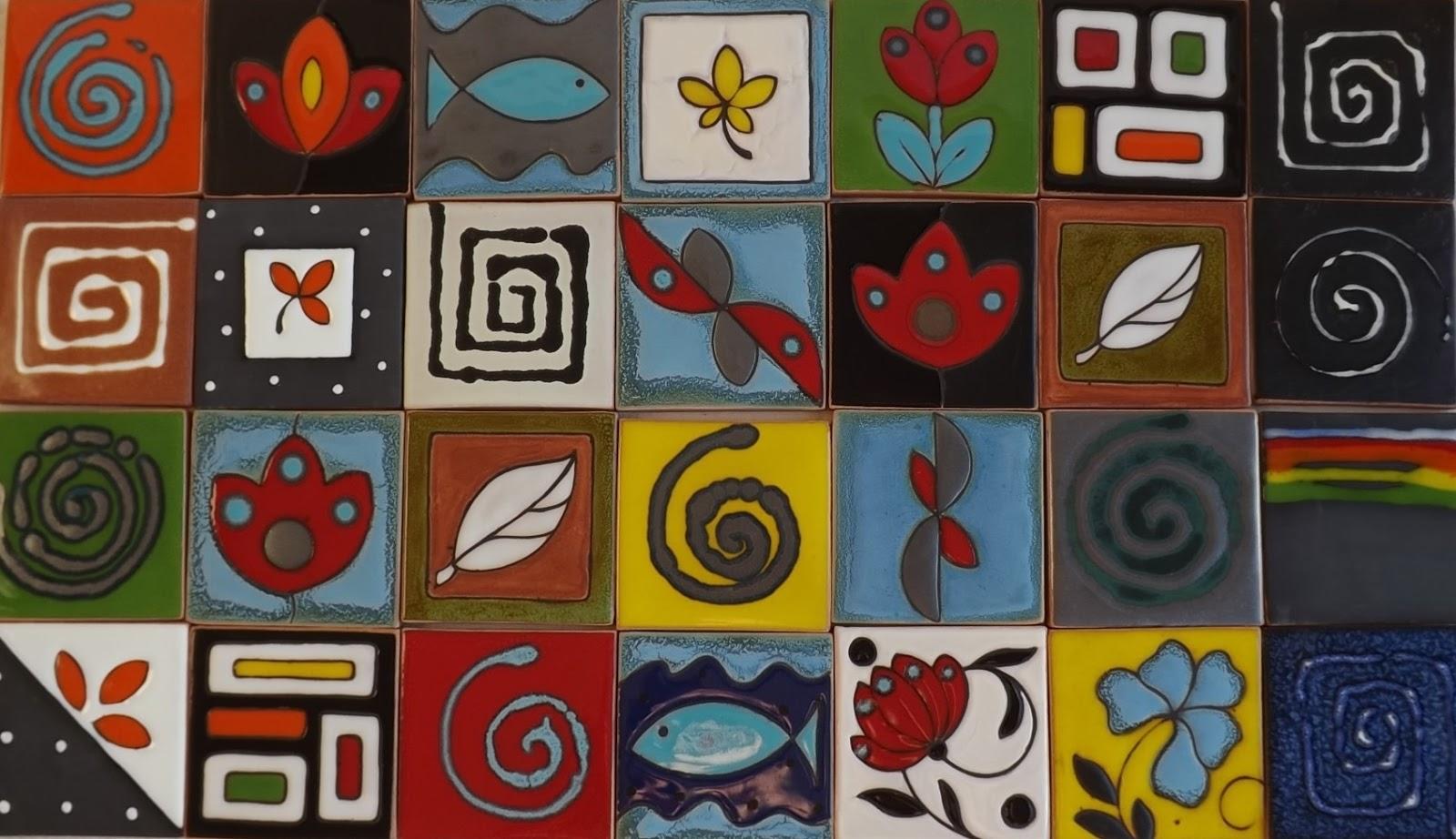 Ceramica come mestiere parete di mattonelle fantasia