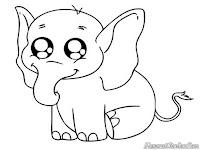Mewarnai Gambar Anak Gajah Sedang Menangis