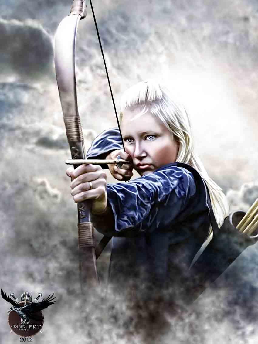 The Viking Post: April 2012 Viking Woman Art