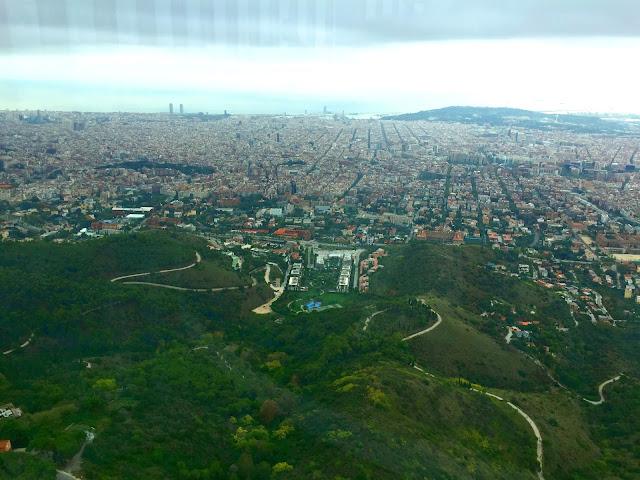 Torre de Callserola, widok na Barcelone