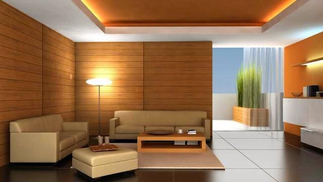 Gambar Interior Ruang Tamu Luas dan Hangat