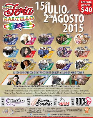 Feria Saltillo 2015 programa