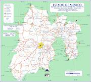 El Estado de México. Distrito Federal mapa estado mexico rutas
