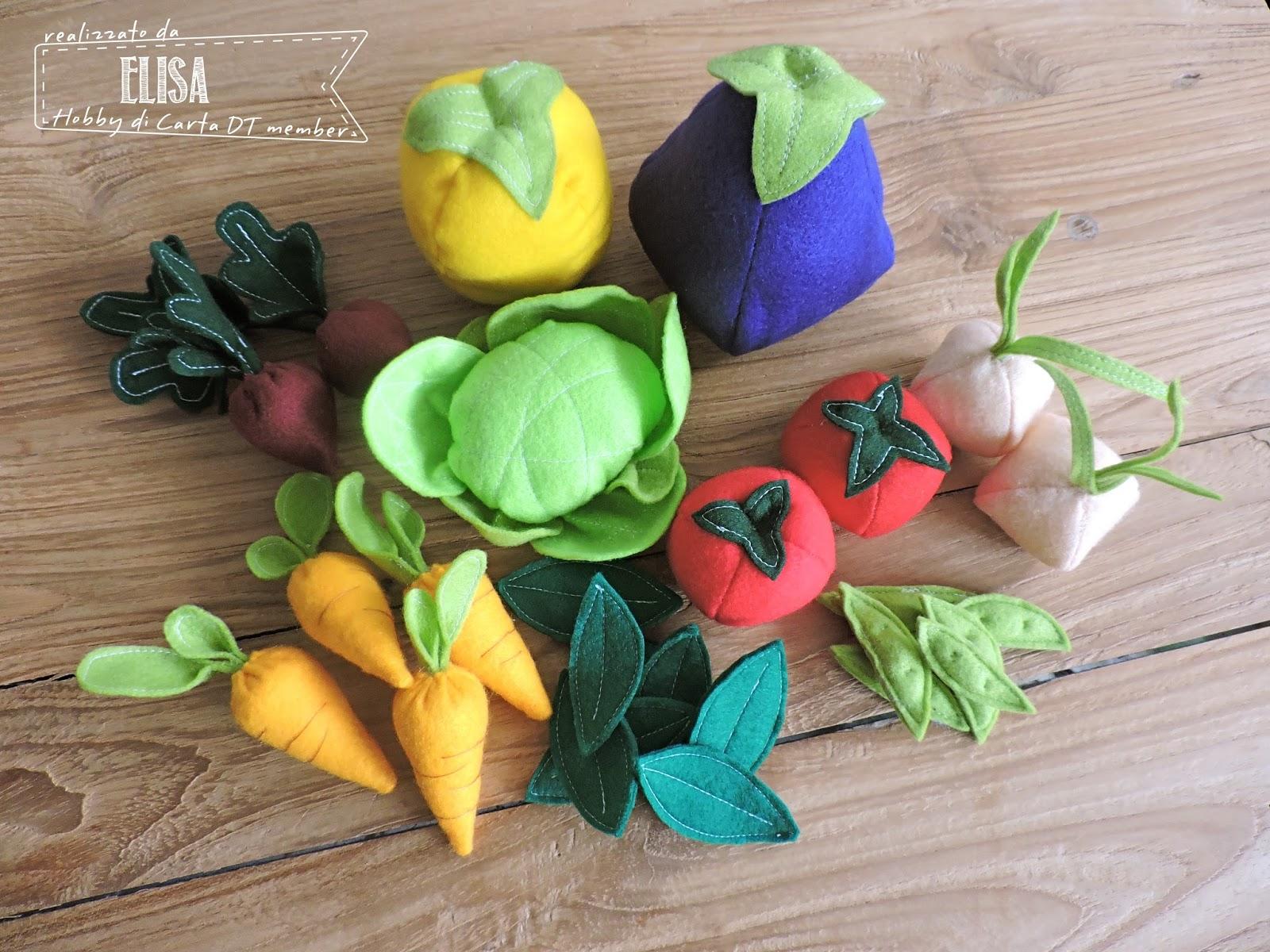 Hobby di carta il blog felt food ortaggi for Decorazioni con verdure e ortaggi