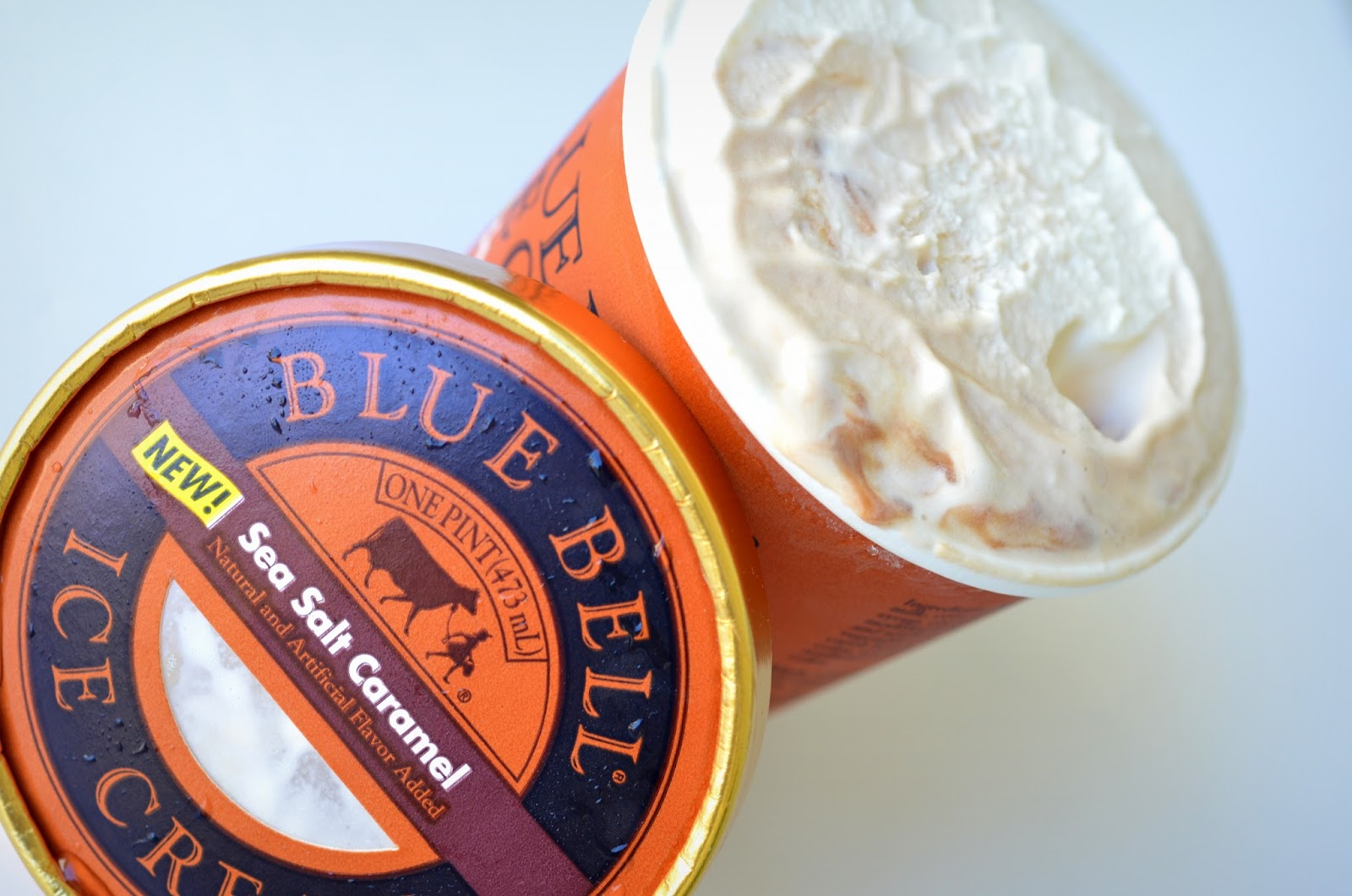 food and ice cream recipes REVIEW Blue Bell Sea Salt Caramel