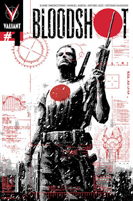 Bloodshot #1 Comic Book Cover Artwork by Valiant Comics x David Aja