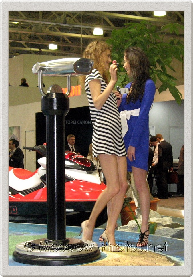 Sexy models in mini dresses at Photoforum - 2008