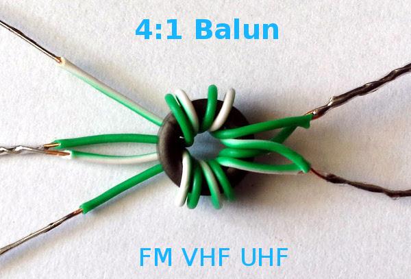 Make a wideband antenna matching transformer