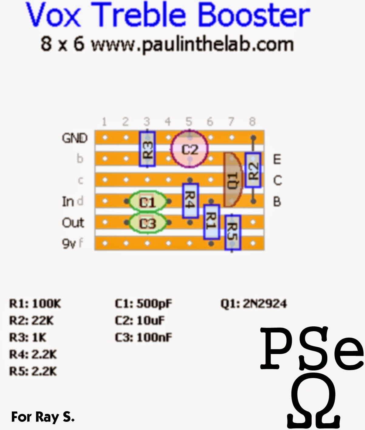 paul in the lab vox treble booster stripboard veroboard layout rh paulinthelab blogspot com vox v 806 treble booster vox treble booster circuit