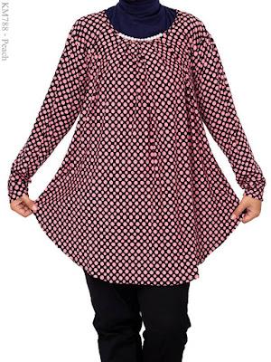 Contoh Baju Atasan Wanita Gemuk Spandek Polkadot