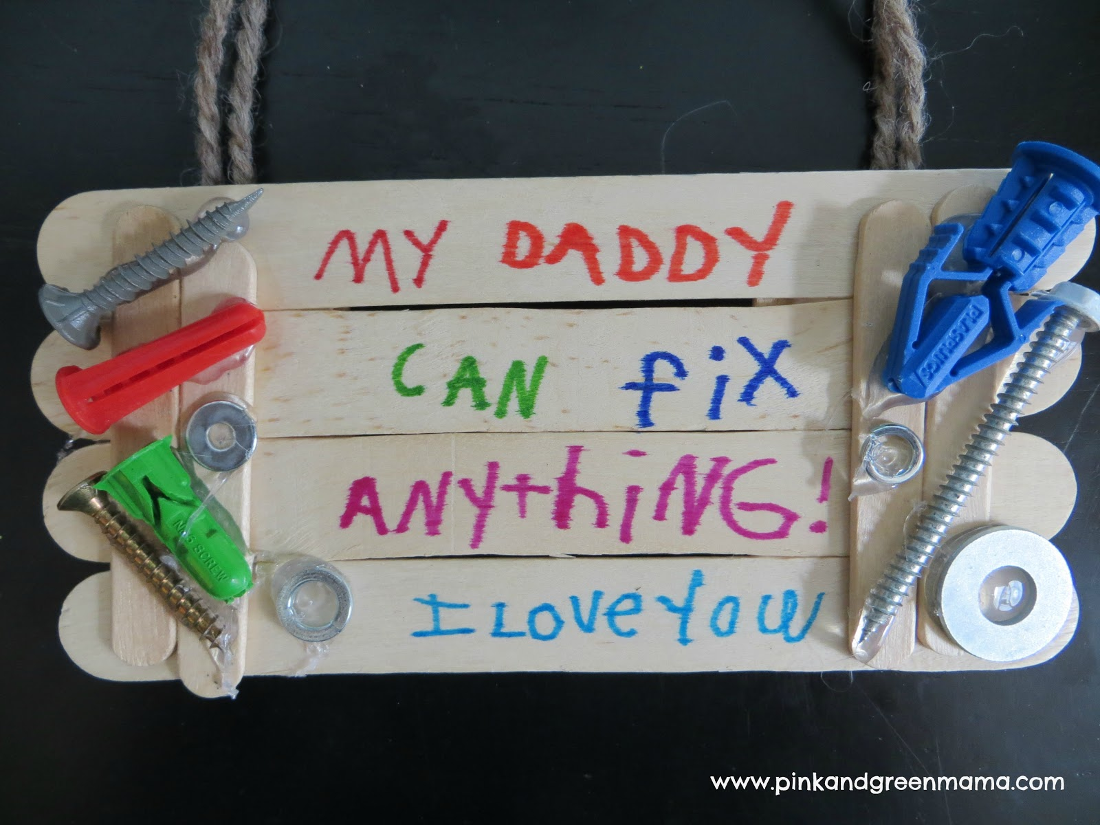 Popsicle Sticks Father's Day Gifts