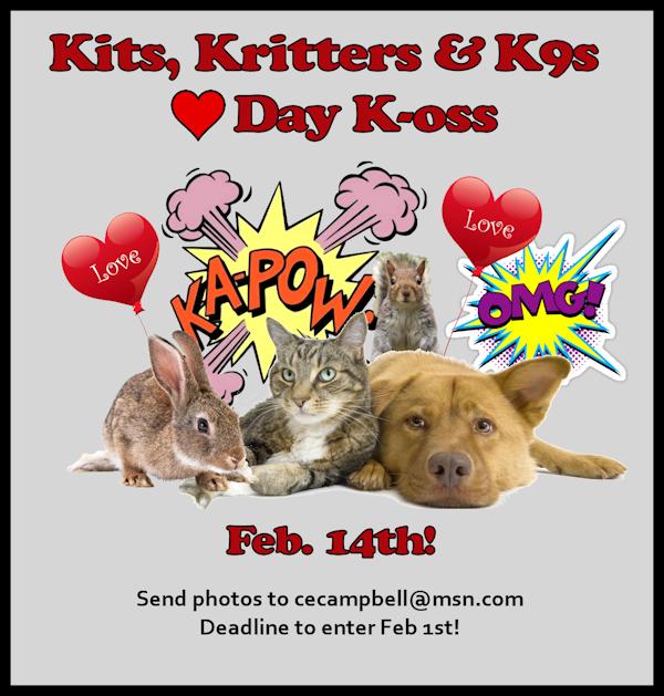 Kits, Kritters & K9s Heart K-oss