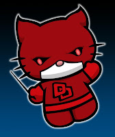 Hello Kitty in Daredevil costume