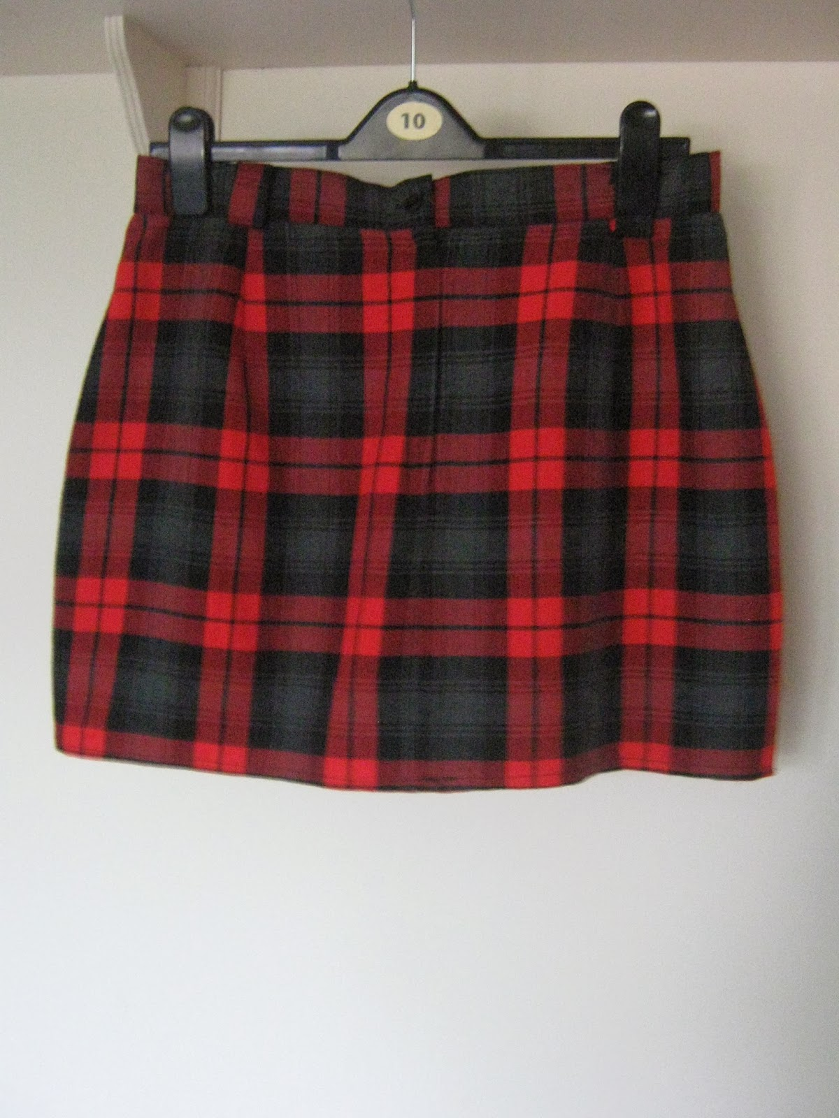 Tartan Skirt Refashion