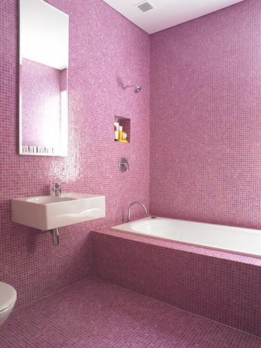 Decoracion Baño Gresite:BAÑO EN COLOR ROSA [] BATHROOM IN PINK COLOR