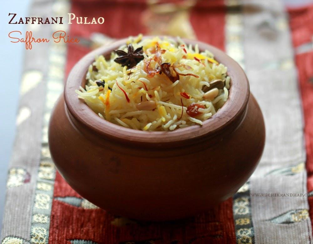 Zaffrani pulao | zafrani pilaf | saffron rice - Cook and Post