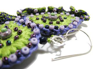 Вязаные украшения: вязаные крючком сережки