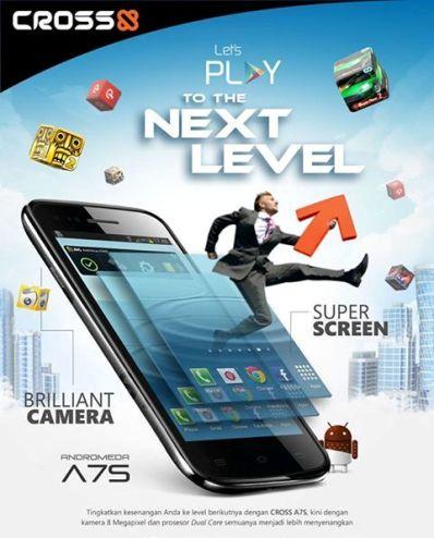 Cross A7S, Hp Android ICS 3G Dual-core Layar IPS Harga Murah 1 Jutaan