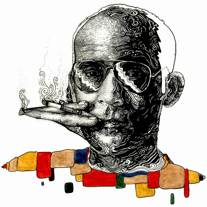 Nathan Manire - Hunter S Thompson Illustrations plus more