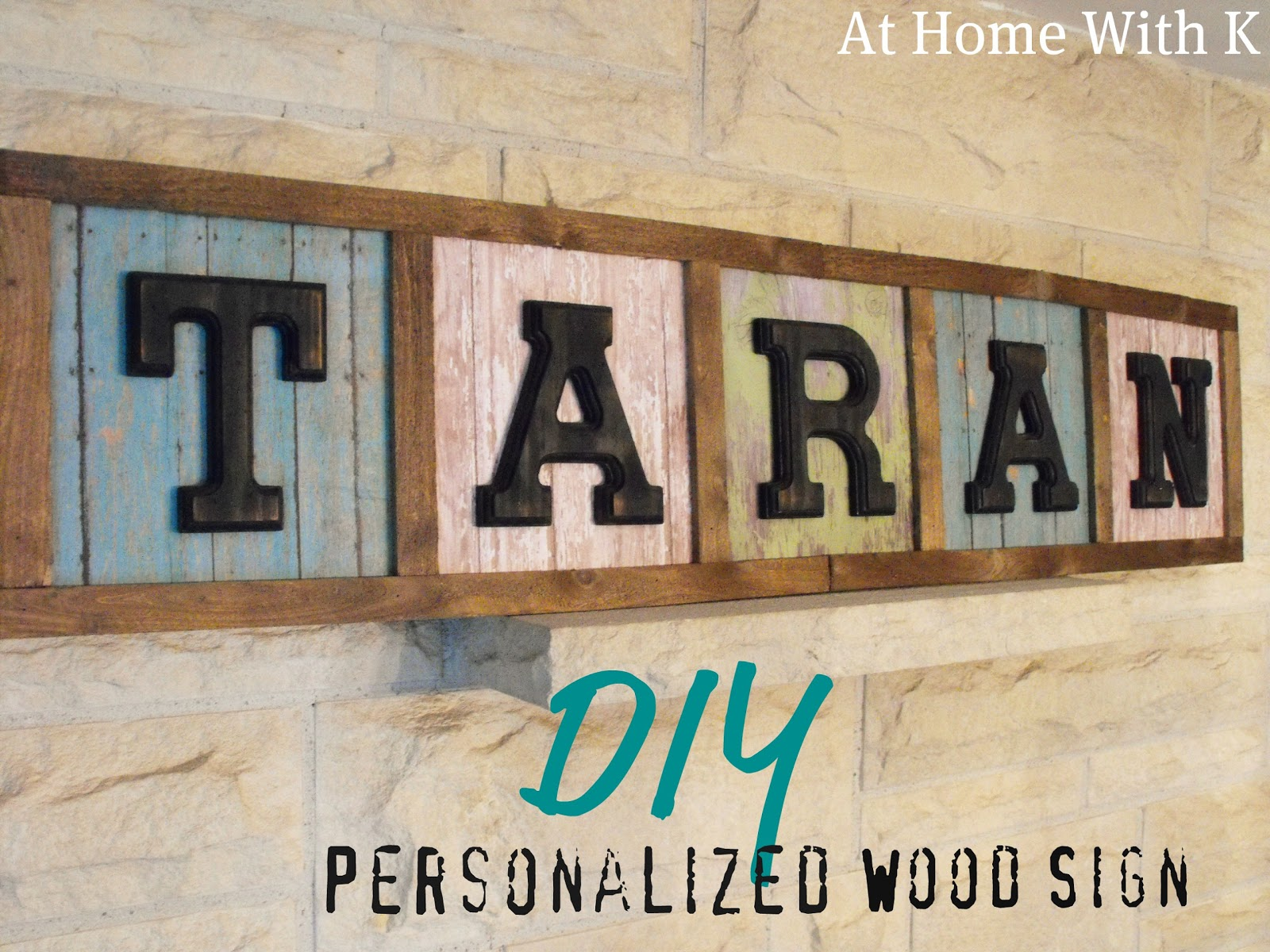 Diy Personalized Wood Sign Home House Garden Design