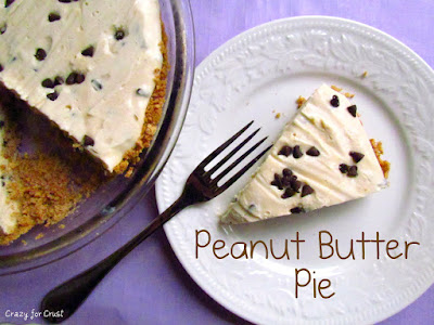 slice of peanut butter pie on white plate