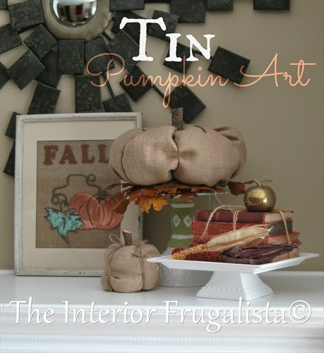 Pumpkin Art made with tin and some copper aging solution