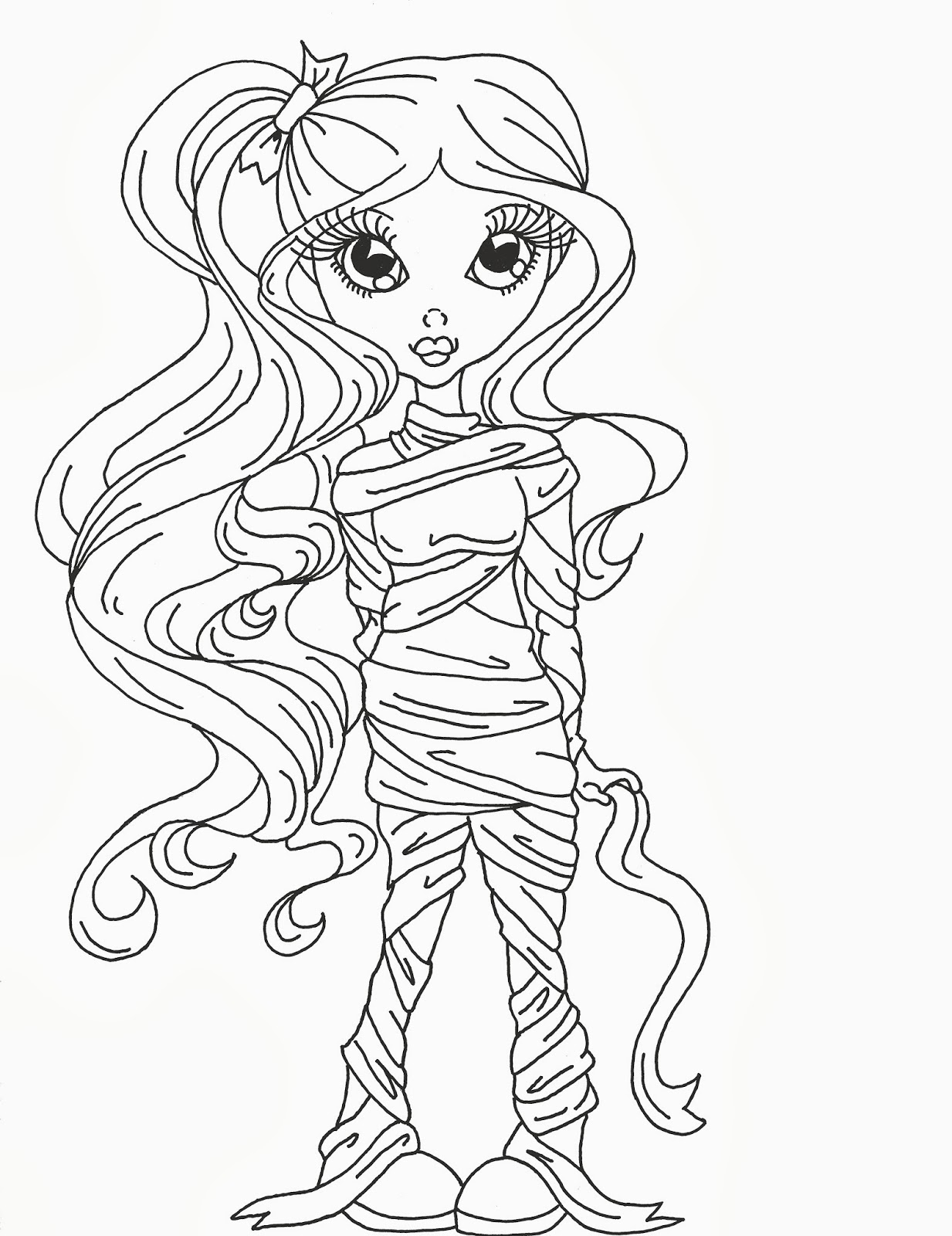 mummy coloring page - cuddlebug cuties darling mummy digital stamp and some