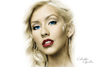 2012 New Christina Aguilera Hollywood Model HQ wallpapers