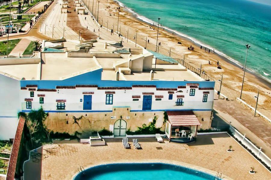 M'diq (Rincon) sandy beach, near Tetouan, Morocco