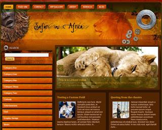 Safari In Africa WordPress Theme