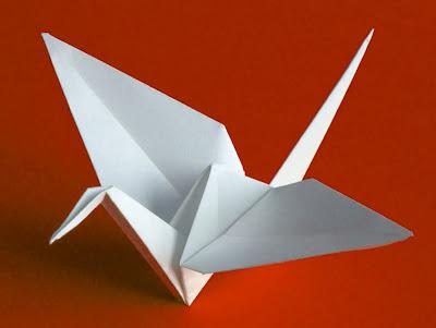 origami e tsurú garças