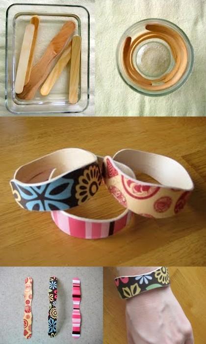 pulseras con palos de helado
