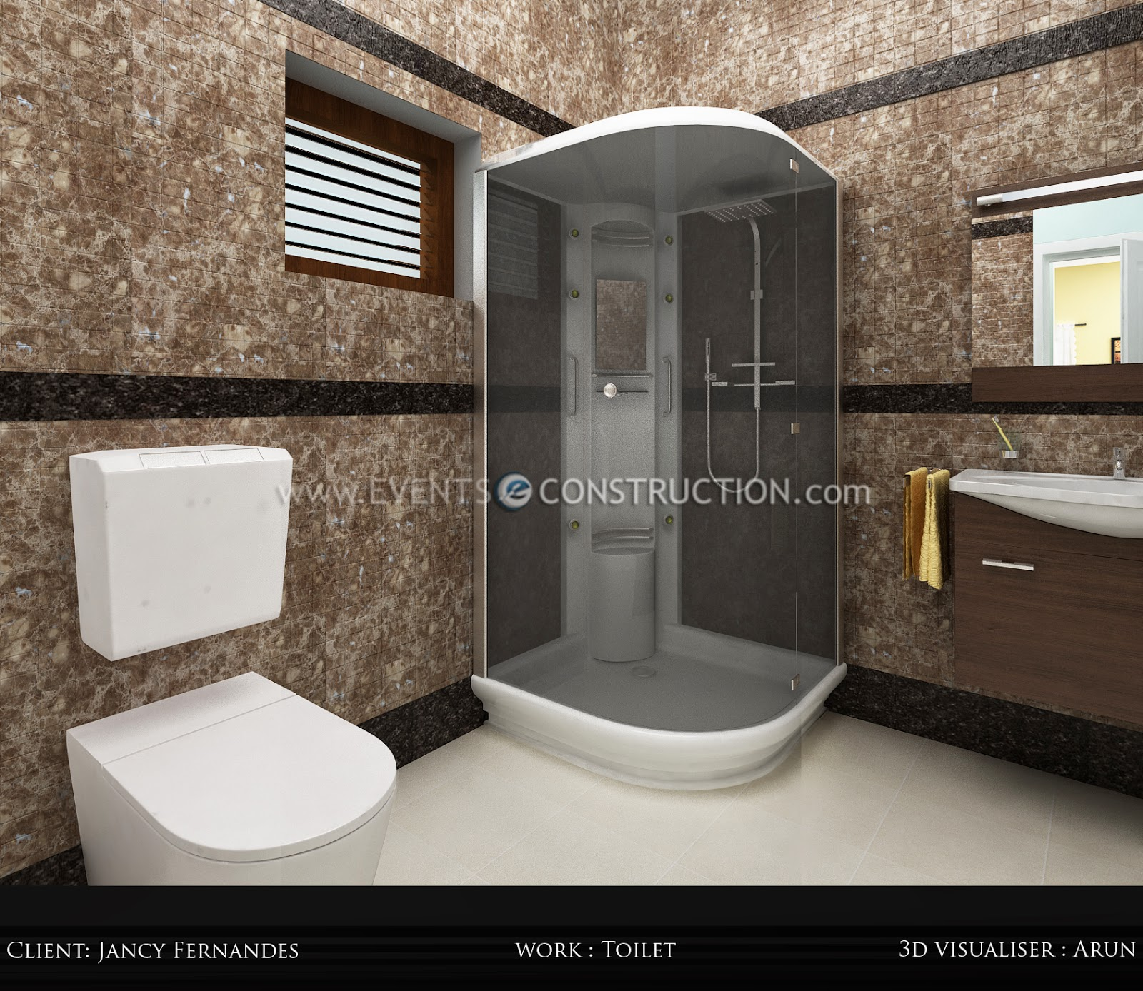 Evens Construction Pvt Ltd Bathroom Designed For Kerala Home