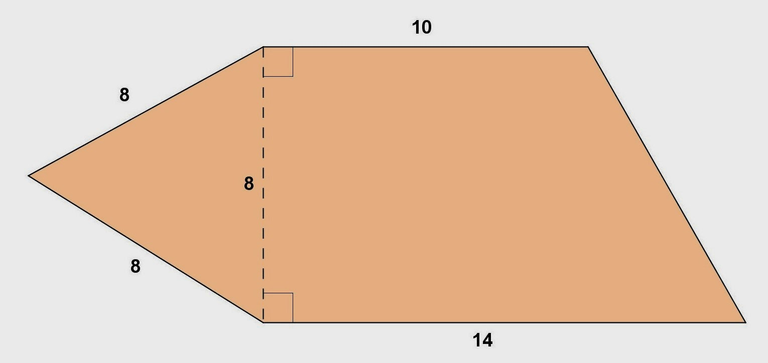 how to find area of a trapezoid given side lengths