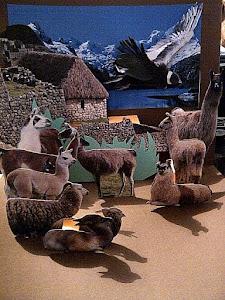 Para los expertos! Paisaje Andino con Rebaño de Llamas en 3D