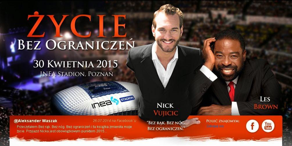 Nick Vujicic w Polsce - Życie bez ograniczeń