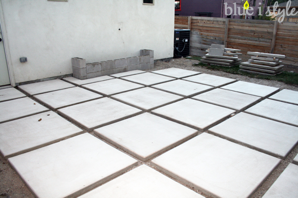 Concrete paver patio construction