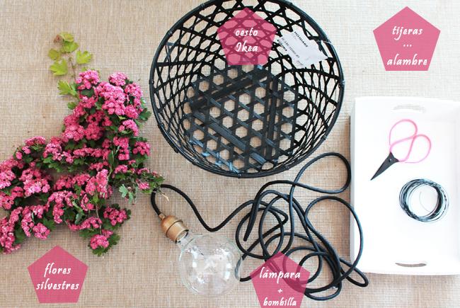 DIY, Lampara de Techo con Flores, Ideas para San Valentin
