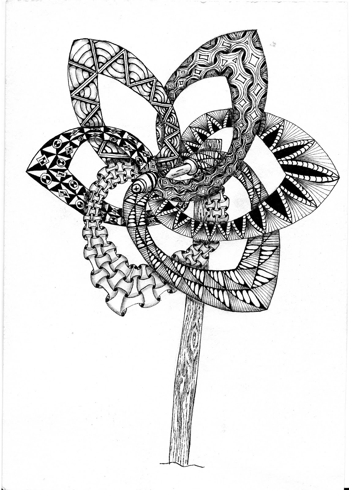 inquisitive sue zentangle challenge 87 string theory v xii