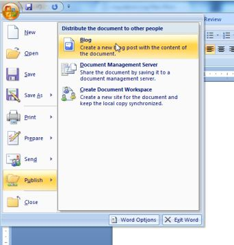 How to publish to your blog using Microsoft Word