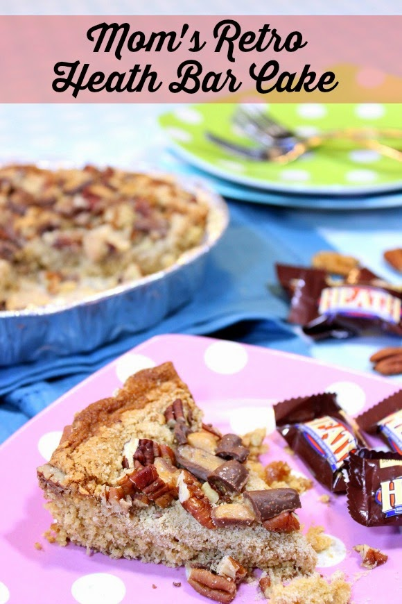 Mom's Retro Heath Bar Cake Recipe - Kudos Kitchen by Renee