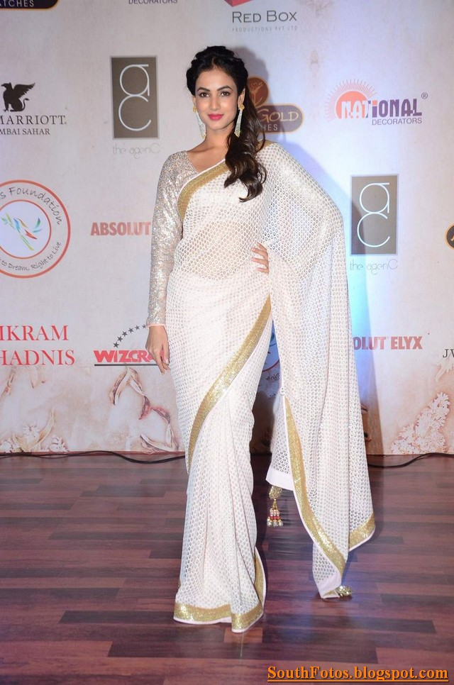 Sonal Chauhan in Saree Wallpapers