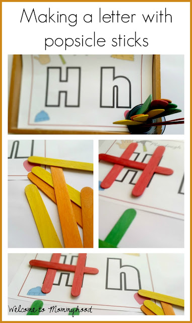Tot Labs presents hands on letter H activities for toddlers and preschoolers by Welcome to Mommyhood, #preschoolactivities, #montessoriactivities, #montessori, #handsonlearning, #letteroftheweek, #lotw, #freeprintables