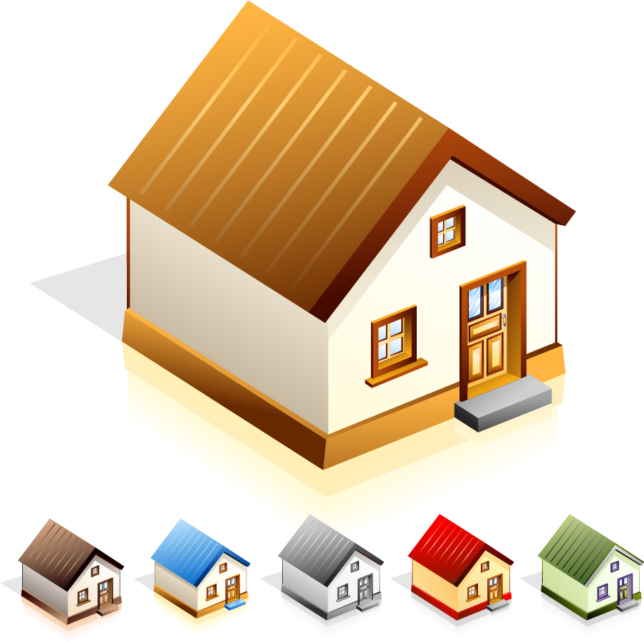 小さな家のアイコン small house vector イラスト素材