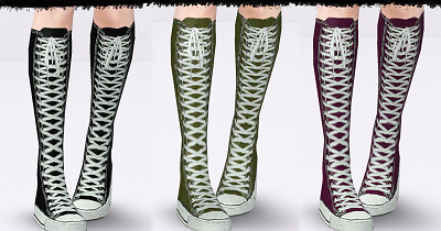 my sims 3 converse knee high boots by hl7402