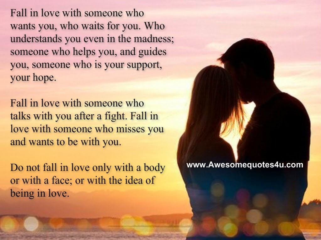 Awesome Quotes: Fall in Love