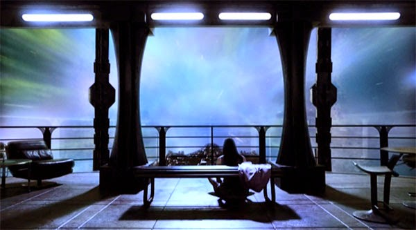 Chloe Armstrong watches the vastness of space on Stargate Universe.