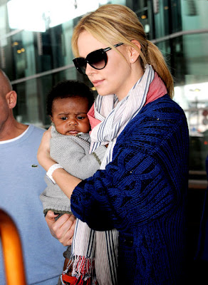 Hollywood Actress Charlize Theron adopted baby Jackson