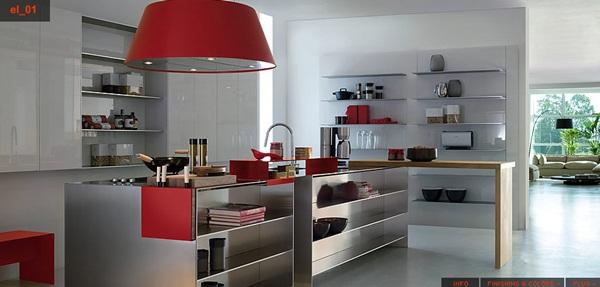 Durable Modern Stainless Steel Kitchen Designs